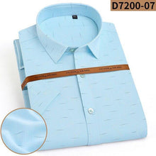 Load image into Gallery viewer, Men's Summer Casual Shirts Bamboo Fiber Cool Soft Elastic Short Sleeve Pocketless Leisure Solid Print men's dress shirts