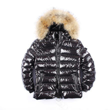 Load image into Gallery viewer, Winter Jacket Women Real Fur Coat Long Parka Duck Down Coat Real Raccoon Fur Collar Thick Warm Black Streetwear