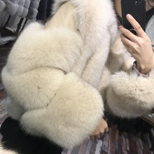 Load image into Gallery viewer, Real Fox Fur Coat Winter Jacket Women Natural Fox Fur Thick Warm Streetwear Brand Luxury Outerwear Casual Fashion