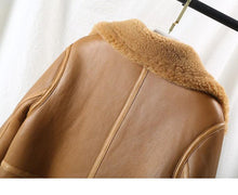 Load image into Gallery viewer, Real Fur Coat Winter Jacket Women Natural Merino Sheep Fur Genuine Leather Long Outerwear Thick Warm Streetwear