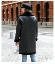 Load image into Gallery viewer, Real Fur Coat Winter Jacket Women Double-faced Fur Real Leather Coat Natural Sheep Fur Thick Warm Streetwear Outerwear - moonaro
