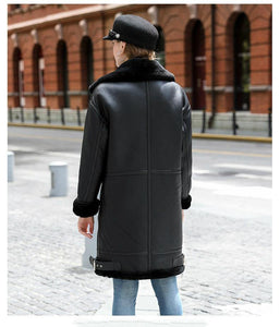 Real Fur Coat Winter Jacket Women Double-faced Fur Real Leather Coat Natural Sheep Fur Thick Warm Streetwear Outerwear - moonaro