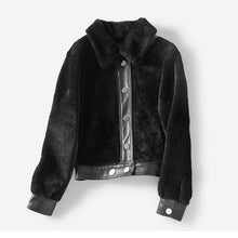 Load image into Gallery viewer, fashion luxury spring winter jacket women real wool fur bomber jacket natural fur coats women's shearling fur coat - moonaro