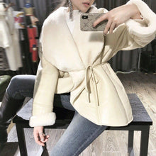 Load image into Gallery viewer, Double-faced Fur Coat Winter Jacket Women Real Merino Sheep Fur Genuine Leather Thick Warm Streetwear Outwear