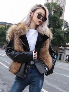 Real Fur Coat Winter Jacket Women Double-faced Fur Real Sheep Leather Coat Natural Fox Fur Thick Warm Streetwear