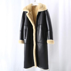 Real Fur Coat Winter Jacket Women Natural Genuine Leather Merino Sheep Fur Thick Warm Outerwear Streetwear