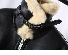 Load image into Gallery viewer, Real Fur Coat Winter Jacket Women Natural Genuine Leather Merino Sheep Fur Thick Warm Outerwear Streetwear