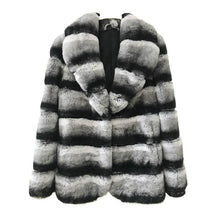 Load image into Gallery viewer, Winter Jacket Women Real Fur Coat Natural Rex Rabbit Fur Outerwear Casual Streetwear Brand Luxury Turn Down Collar