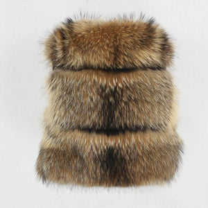 Winter Jacket Women Big Fluffy Real Fur Coat Natural Raccoon Fur Thick Warm Outerwear Streetwear Removable Vest