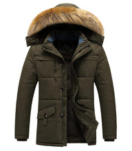 Load image into Gallery viewer, Thick Cotton Padded Parka Men Winter Jacket fur Hooded Coat Multi-pocket Warm Outerwear