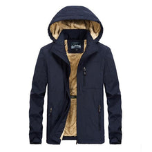 Load image into Gallery viewer, winter coat men warm wool liner casual men`s windbreaker bomber jacket Detachable Hooded parka coat
