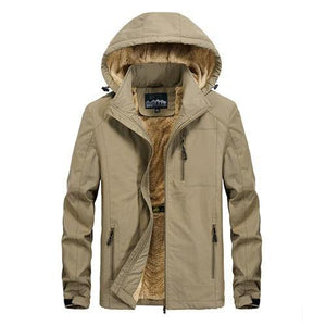 winter coat men warm wool liner casual men`s windbreaker bomber jacket Detachable Hooded parka coat