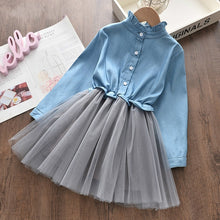 Load image into Gallery viewer, Casual Girls Clothing Sets New Summer stripe Printing T-Shirt Skirt Suit Lace Kids Girls Clothes Cute Two Pieces Suit Outfits