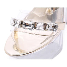 Load image into Gallery viewer, Fashion 15cm Super High Heels Women Thin Heel Transparent Crystal Shoes Women's Party Platform Sandals