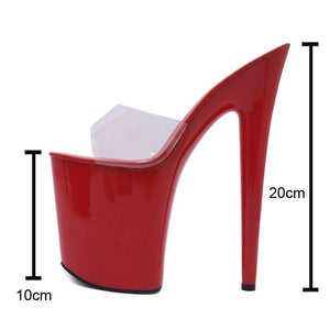 Party Women Platform Pumps Roman Peep Toe Ladies 20cm Super High Heel Sandals Sexy Thick Bottom Slippers