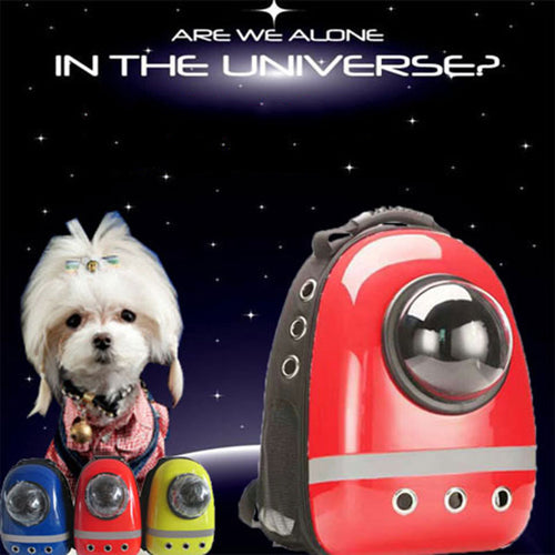 Breathable pet Cat Carrier backpack pet dog Outdoor portable Space Capsule Shaped