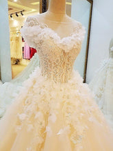 Load image into Gallery viewer, special wedding dresses lace ball gown corset back real photos