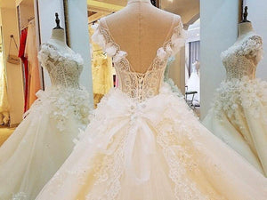 special wedding dresses lace ball gown corset back real photos