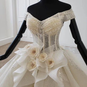 detachable wedding dress v-neck lace up back corset bridal dress boho European style tiktok