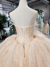 Load image into Gallery viewer, luxury wedding dresses new fashion design strapless ball gown lace wedding gowns multi-layer skirt abiti da sposa