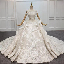 Load image into Gallery viewer, Wedding Dress Brides Strapless Lace Wedding Dress Beading Luxury