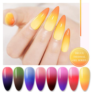 3 Colors Thermal Nail Gel Polish 6ml Temperature Color Changing Soak Off UV Gel Lacquer Manicure Nail Art Varnish