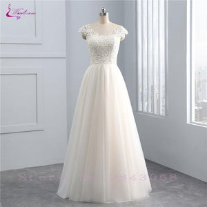 Simple Style Silky Organza Scoop A-Line Wedding Dress Sleeveless Illusion Back Natural Waist Bridal Gowns Custom Made