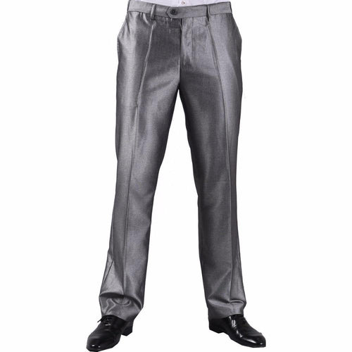 Formal Business Pants Standard Asian-size Silver Grey Black Plus