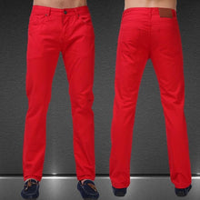 Load image into Gallery viewer, Men Jeans Solid Candy Color New Spring Summer Autumn Fashion Casual Brand Calca Jeans