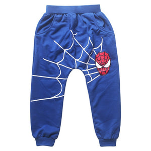 Spiderman Sports suit 2 pieces set Tracksuits Kids Clothing sets 100-140cm Casual clothes Coat+Pant