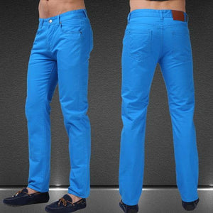 Men Jeans Solid Candy Color New Spring Summer Autumn Fashion Casual Brand Calca Jeans