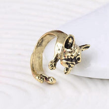 Load image into Gallery viewer, 3 color Vintage antique Hippie Chic Dog open size Ring Cute Animal Ring factory price fine Jewelry - moonaro