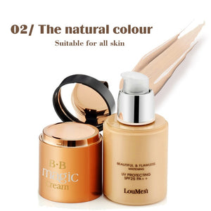 bb cream with concealer cream Concealer Moisturizing Foundation Makeup Bare Strong Whitening Face Beauty Makeup - moonaro