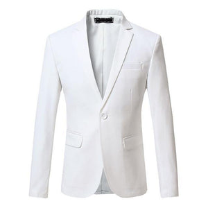 Men Dress Blazer Jacket Brand Slim Fit Casual Business Blazer Suit Male Plus Size Cotton Wedding Formal Suit Blazer - moonaro