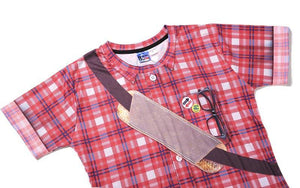 Men Red Plaid T-shirt 3d Print Fake Shirts Summer Tops Tees Fashion 3d T shirt - moonaro