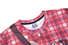 Load image into Gallery viewer, Men Red Plaid T-shirt 3d Print Fake Shirts Summer Tops Tees Fashion 3d T shirt