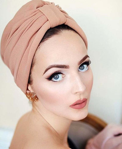 women luxury bow Turban Hat Stylish Chemo cap detachable bowknot