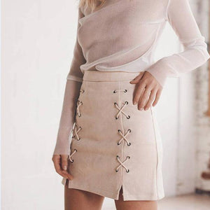 explosion suede bag hip skirt and body bandage