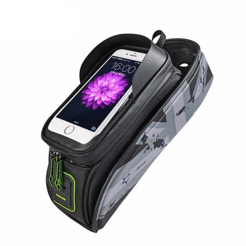 Bicycle Frame Front Tube Waterproof Bike Bag Touch Screen Bike Saddle Package For 5.8 /6 in Cell Phone