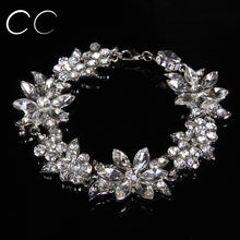 Load image into Gallery viewer, Beautiful fashion jewelry bridal's bracelets for women party wedding jewellery crystal luxury engagement accessories - moonaro