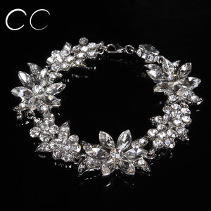 Beautiful fashion jewelry bridal's bracelets for women party wedding jewellery crystal luxury engagement accessories - moonaro