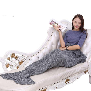 Mermaid Throw Blanket Handmade Mermaid Tail Blanket for Adult Kid Multi Colors 3 Size Soft Crochet Mermaid Blanket
