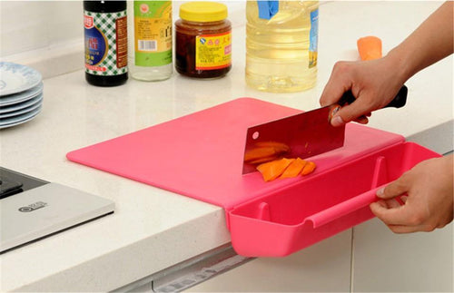 2 in 1 Kitchen Foldable Chopping Board Creative Non-slip Folding Cutting Board Cooking Mat