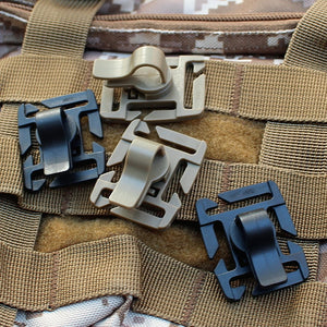 Drink Tube Clip Gear Water Pipe Hose Clamp Backpack Molle Carabiner Tactical Buckle Outdoor Camping Hike