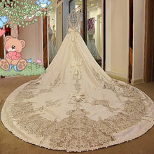 Load image into Gallery viewer, Luxury wedding dress for bridal beading ball gown long sleeves lace wedding gowns vestidos de noivas