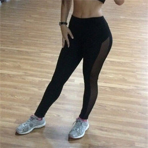 New Sport Leggings Women Mesh Splice Fitness Slim Black Legging Sportswear Clothing New Leggins Yoga Pants Sexy Yoga leggings