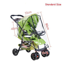 Load image into Gallery viewer, Baby Stroller Accessories Universal Waterproof Rain Cover Wind Dust Shield Zipper Open For Baby Strollers Pushchairs - moonaro