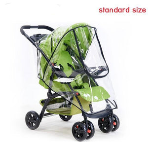 Baby Stroller Accessories Universal Waterproof Rain Cover Wind Dust Shield Zipper Open For Baby Strollers Pushchairs - moonaro