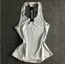 Load image into Gallery viewer, Women Yoga Top Gym Sports Vest Sleeveless Shirts Tank Tops Sport Top Fitness Women Running Clothes Singlets