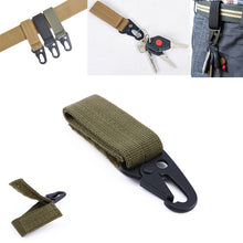 Load image into Gallery viewer, molle attach belt clip webbing backpack strap Quickdraw clasp outdoor kit Carabiner camp tactical travel bag hike bushcraft